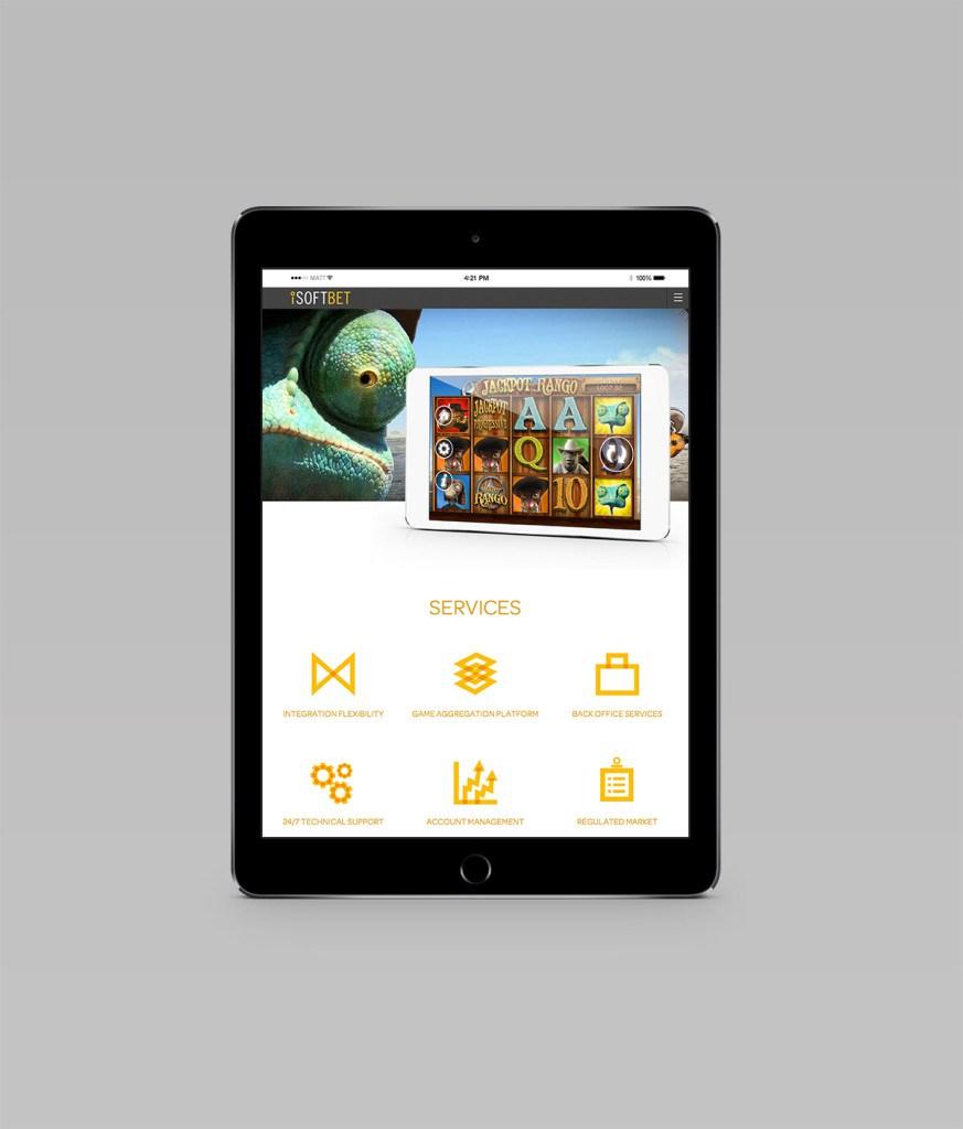 iSoftbet tablet