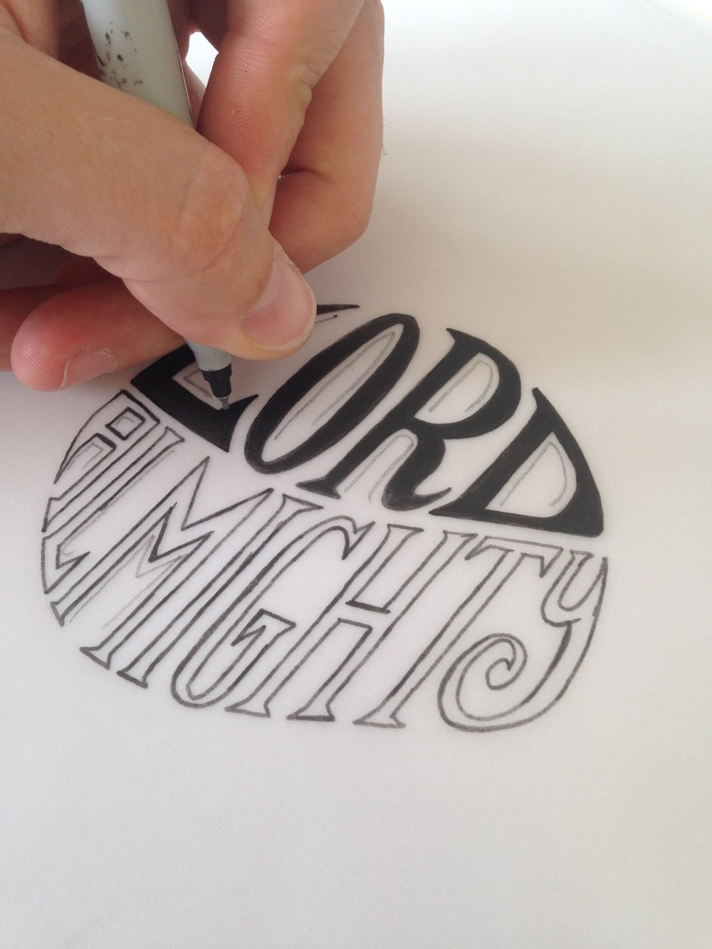 Lord Almighty logo sketch