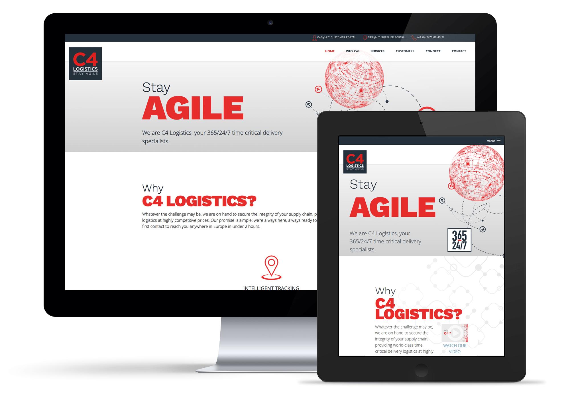 C4 Logistics website